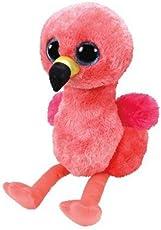 TY 36848 Gilda, Flamingo mit Glitzeraugen, Glubschi's, Beanie Boo's, Plüsch, 15 cm