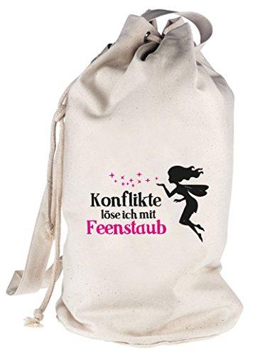 Shirtstreet24, Feenstaub, Fee Fairy bedruckter Seesack Umhängetasche Schultertasche Beutel Bag, Größe: onesize,natur