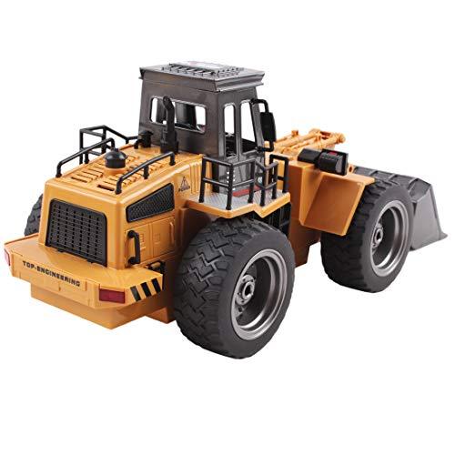RC Auto kaufen Baufahrzeug Bild 5: deAO RC Radlader mit LED Beleuchtung und Sounds Radio Kontrollierter Baustellen LKW inklusive wieder ladbare Batterien mit lade Station*