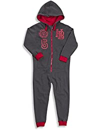 ONEZEE Childrens Kids Boys All-In-One Jumpsuit Super Soft Cosy Warm Hooded Fleece