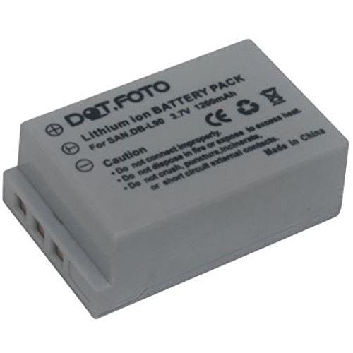 Xacti (Dot.Foto Qualitätsakku für Sanyo DB-L90 - 3,7v / 1200mAh - Garantie 2 Jahre - Sanyo Xacti VPC-SH1, VPC-SH1EX, VPC-SH1GX, VPC-SH1PX, VPC-SH1TA)