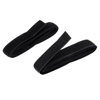 Homyl Klebender Klettverschluss Klettband selbstklebend Flauschband & Hakenband aus Nylon - Schwarz 80cm 20mm
