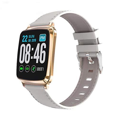 DFGH Smartwatch für Herren, Bluetooth, Sport, Damenuhr, Smartwatch, mit Schlitz für Kamera, SIM-Karte silberfarben