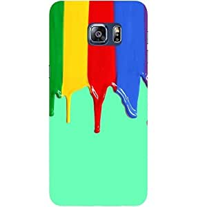 Casotec Color Flow Design Hard Back Case Cover for Samsung Galaxy S6 edge Plus