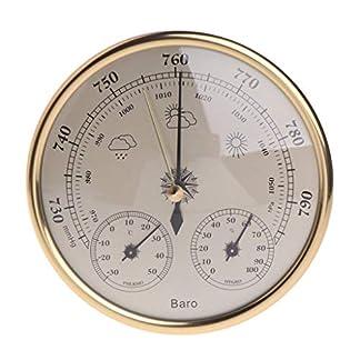 R-Weichong – Instrumento atmosférico de alta precisión con termómetro e higrómetro metálico