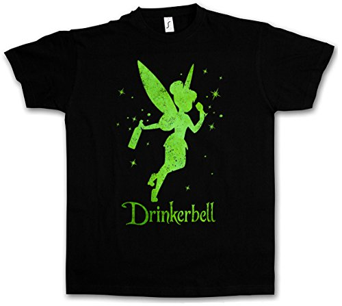 Urban Backwoods Drinkerbell T-Shirt – Taglie S – 5XL Nero