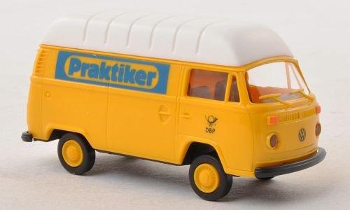 vw-t2-van-haute-toit-praktiker-allemand-bundespost-voiture-miniature-miniature-deja-montee-brekina-1