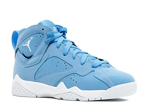 Jordan Retro 7 Pantone University Blue/White-White (Big Kid) (3.5 M US)