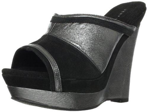 Very Volatile Supercharge Femmes Cuir Sandales Compensés Black