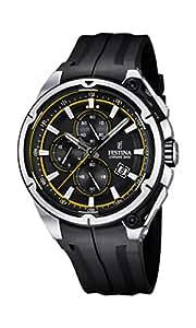 Festina-Chrono 2015-Orologio da uomo al quarzo con Display con cronografo e cinturino in gomma, colore: nero, F16882/7