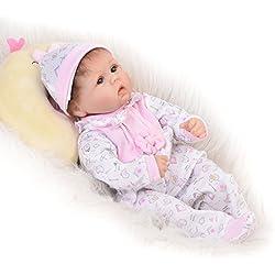 Newborn doll 17 ''/42 CM Real Life Baby Dolls Renacer Recién Nacido Bebés de Silicona Suave Realista Niña Muñeca Renacer Niños Cumpleaños Regalo de Navidad