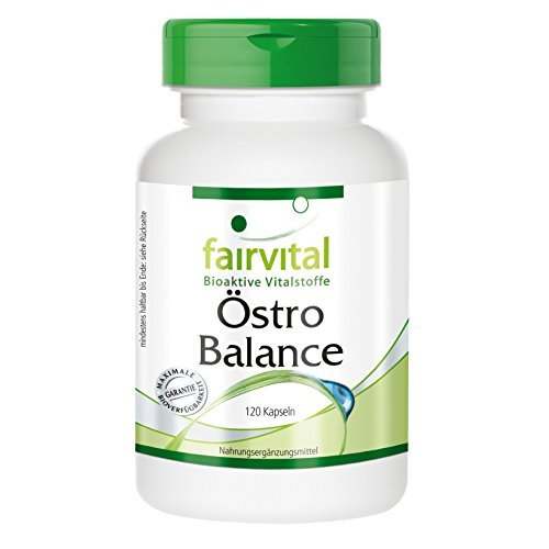 Östro Balance - HOCHDOSIERT - 120 Kapseln - Soja Isoflavone (Genistin, Daidzin, Glycitin) mit Vitamin E - Soja Isoflavone 120 Kapseln