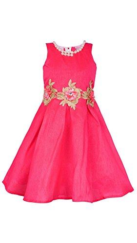 My Lil Princess Baby Girls Birthday Party wear Frock Dress_Bangalori Silk Red...