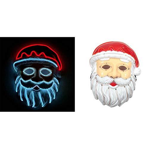 Lucky-all-star Santa Claus EL Draht Maske Cosplay LED -