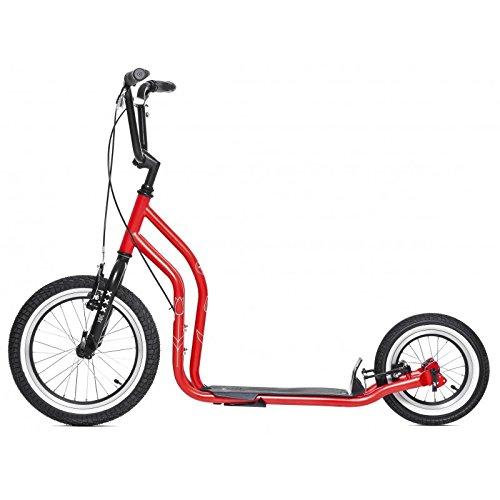 yedoo Negro–Azul–kickbike–Patinete con neumáticos para adultos hasta 120kg Scooter a partir de 12años viene parcialmente montado en caja de cartón
