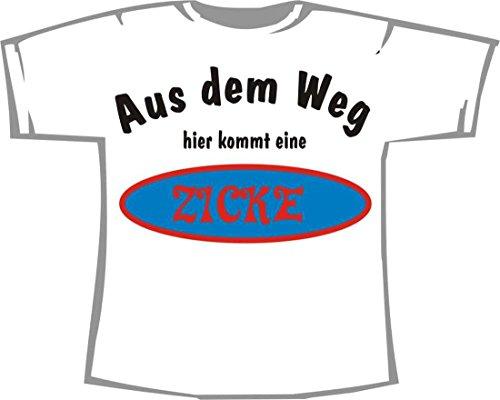 Aus dem Weg, Hier kommt eine Zicke; Kinder T-Shirt weiß, Gr. 1-2 -