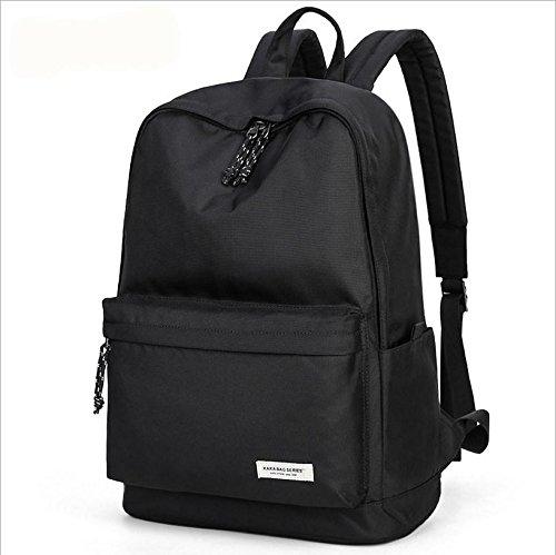 Slim Laptop Rucksack Lightweight Rucksack School Book Taschen Black