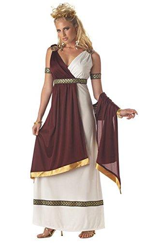 Generique - Römische Kaiserin Kostüm für Damen Antike Bordeaux-weiß S (38/40) - Kleidung Antike Römische