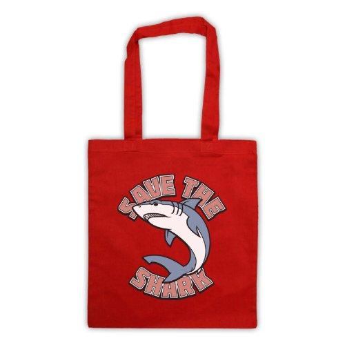 Salvare il squalo slogan stile borsa Red