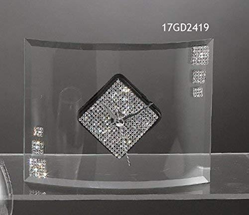 Oggettistica per Bomboniere Sammlung Aida Uhr aus Glas 12x16 cm in Geschenkbox Made in Ita