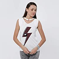 Lee Cooper T-Shirts For Women, White XL