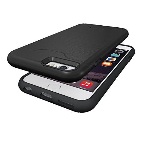 Trumpshop Smartphone Case Coque Housse Etui de Protection pour Apple iPhone 6 Plus / iPhone 6s Plus (5.5-Pouce) + Bleu Profond + Fine en PC et Silicone TPU Gel avec Absorption de Choc Noir