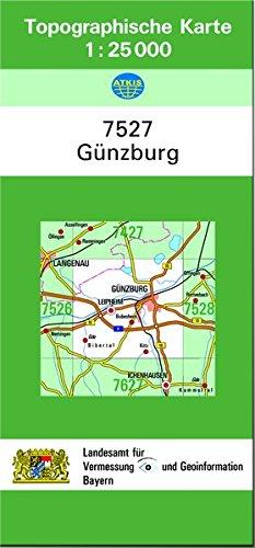 Günzburg: Topographische Karte 1:25000
