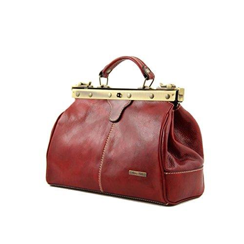 Tuscany Leather - Michelangelo - Mallette infirmière rétro en cuir Miel - TL10038/3 Marron foncé