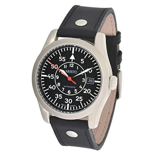 Aristo 3H33 - Reloj de pulsera hombre, piel, color negro