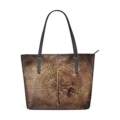 XGBags Custom Frauen Umhängetaschen Wooden Wall Scratched Material Women's Tote Shoulder Bag Leather handbag (Frauen Handtaschen Jessica Simpson)