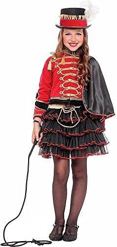 Italian made Deluxe Mädchen 4 Stück Zirkusdirektor Rädelsführer Karneval Fest Halloween Welttag des Buches Woche Kostüm Kleid Outfit 3-10 Jahre - Rot, 9 (Zirkusdirektor Outfit)