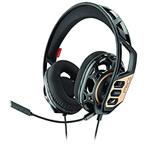 Plantronics RIG 300 Binaural Kopfband Schwarz Headset – Kopfhörer (Spielekonsole/PC/Spiele, Binaural, Kopfband Schwarz, mit Kabel, 1,5 m)