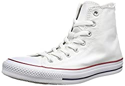 Converse Unisex-adult Chuck Taylor All Star Hi-top Trainers, White (White), 10 Uk (44 Eu)