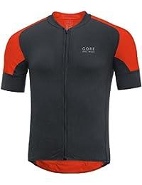 GORE BIKE WEAR Homme Maillot de Cyclisme sur Route à Manches Courtes, Super Léger, Respirant, GORE Selected Fabrics, OXYGENS CC Jersey, Taille S, Noir, SOXYCO