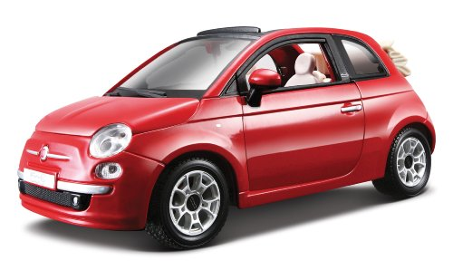 BBurago - 21032 - Voiture sans pile - Reproduction - New Fiat 500 (2007) - échelle 1/24 - Coloris aléatoire