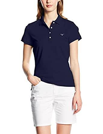 GANT Damen Poloshirt The Original Pique, Gr. X-Small, Blau (Evening Blue 433)