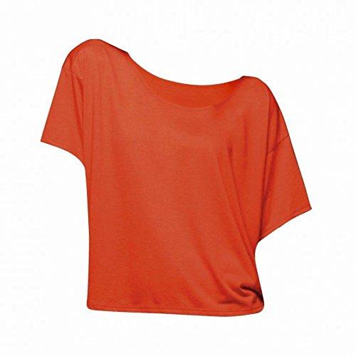 Canvas Kurzarm-t-shirt (Bella Boxy Damen T-Shirt (L/XL) (Koralle))