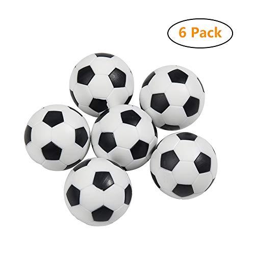 6 Piezas 32 mm Futbolín-Bolas-Foosball,Balones de Fútbol, Etilo de Foosball de Mesa,de Plástico Duro...
