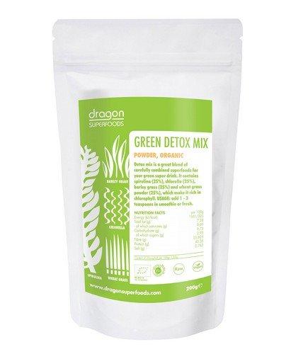 Green Detox Mix (Chlorella, Spirulina, Gerstengras und Weizengras)   Rohkost   200 g