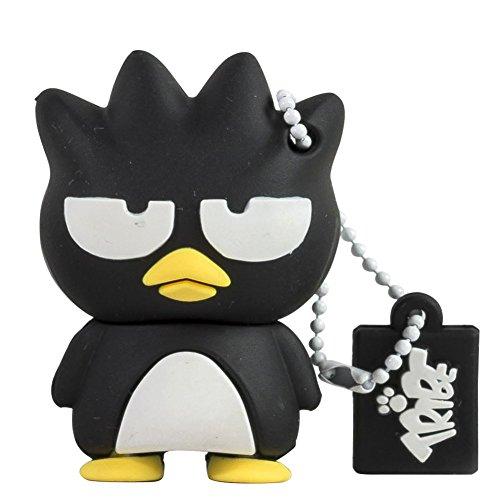 Tribe FD004302 Hello Kitty Pendrive Figur 4 GB Speicherstick Lustig USB Flash Drive 2.0 Memory Stick Datenspeicher, Schlüsselanhänger Kappenhalter, Bradtz Maru, Schwarz