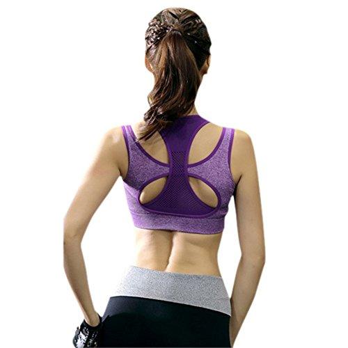 ... CHIC-CHIC Sexy Soutien-gorge Sport Push up Bra Lingerie Brassière Sans  Armature Yoga ... 6ccdfd90ef2