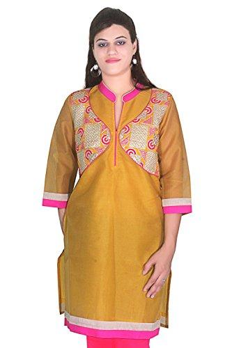 Latest design silk cotton kurtis for women