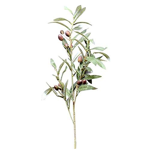 SODIAL Kuenstliche Olive Leaf Green Pflanzen Fruechte Branchen Fake Leaves Home Decor