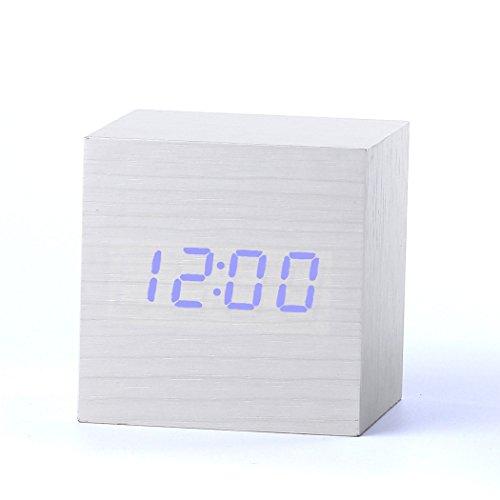 Yihya Clásico madera Reloj Alarm Clock