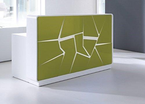 empfangstheke friseur Empfangstheke ARCTIC SUMMER weiß-grün absoluter Eye-Catcher Empfangstresen Rezeption Bürotheke