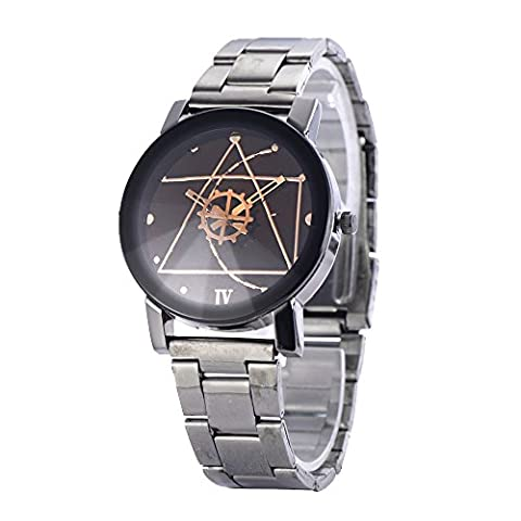 Contever® Fashion Geneva Quartz Watch Stainless Steel Analog Wrist Watch