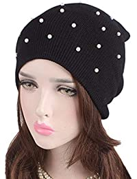 Berretti Beanie Fashion Hat con Perla Winter Warming Rmer Ear Hat Ski Mode  di Marca cap f92e67d042b