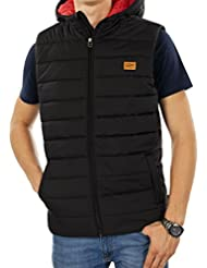JACK & JONES Herren Bodywarmer jorSTRONG Steppweste Daunenweste Pufferweste Kapuze Regular Fit