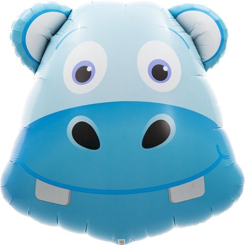 Hippo Head Helium Foil Balloon - 28 inch by Northstar Balloons