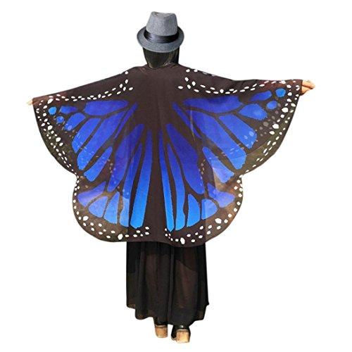 Schmetterling Kostüm Dasongff Frauen Schmetterlingsflügel Schal Chiffon Lose Kimono Cardigan Top...